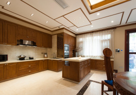 美式开放型厨房效果图