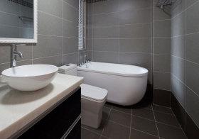 现代灰格子卫生间细节