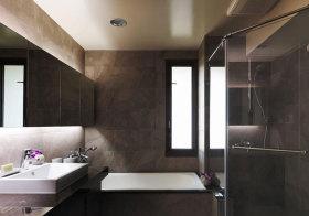 现代褐色卫生间细节