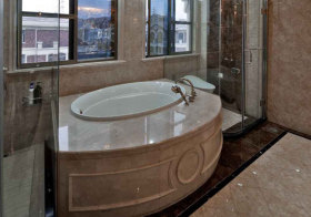 欧式浴缸卫生间欣赏