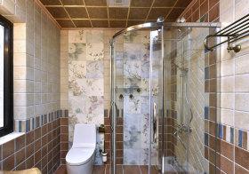 混搭各色瓷砖卫生间实景