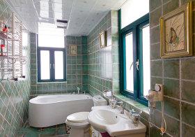东南亚瓷砖卫生间实景