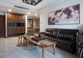 美式褐色客厅欣赏