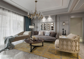欧式金银客厅设计