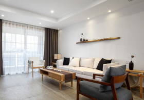 日系木质客厅美图
