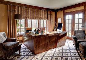 美式梯形书房设计