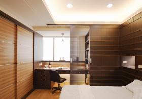 现代褐色书房设计