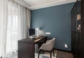 宜家蓝色书房设计