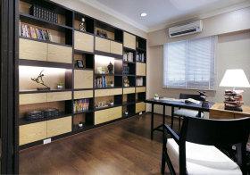 现代多功能书房书柜欣赏