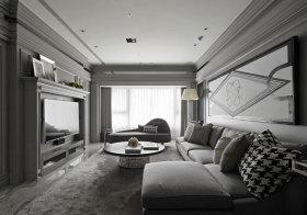 欧式灰色系客厅欣赏