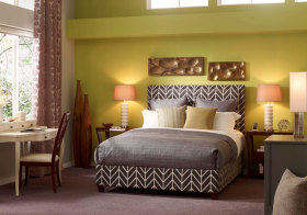 混搭绿色卧室效果图