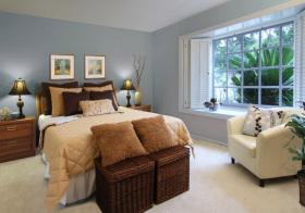 美式蓝色卧室美图鉴赏