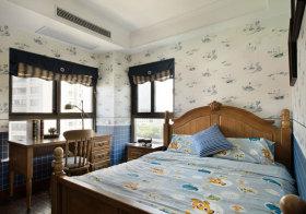 简约淡蓝色儿童房设计