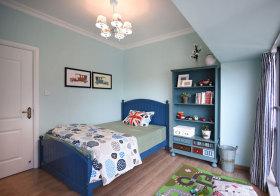 美式经典蓝儿童房欣赏
