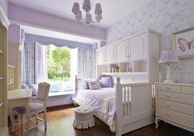 美式淡紫儿童房设计