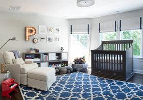 美式蓝纹儿童房欣赏