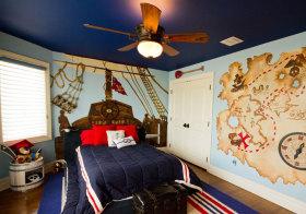 美式航海儿童房设计