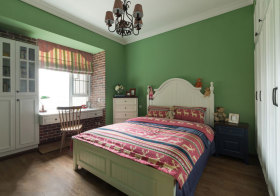 混搭绿色儿童房设计
