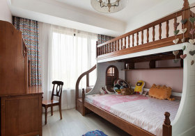 新中式双层儿童房欣赏
