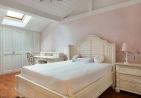 欧式粉白儿童房阁楼欣赏