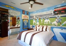 混搭足球儿童房设计