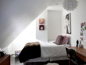 北欧小卧室阁楼实景