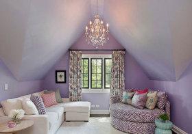 混搭紫色阁楼设计