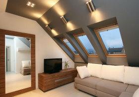 现代灰色阁楼设计