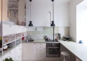 现代素色厨房实景