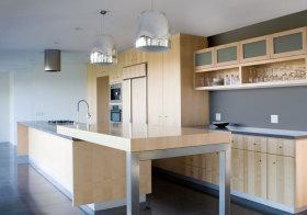 简约木质厨房效果图