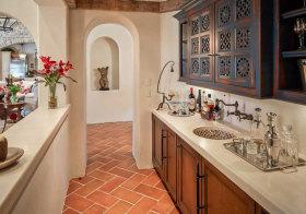 地中海拱形厨房细节