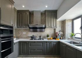 美式深灰厨房橱柜欣赏