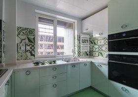 现代几何厨房实拍