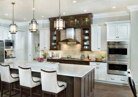 美式褐色厨房美图