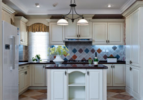 美式瓷砖厨房橱柜欣赏