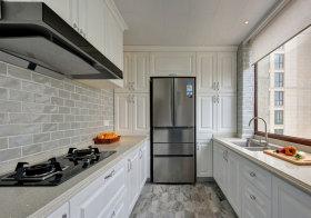 美式白色厨房橱柜美图
