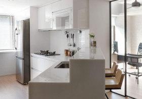 现代转折厨房近景