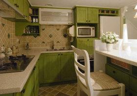 地中海绿色厨房橱柜设计