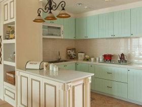 欧式淡蓝色厨房橱柜欣赏