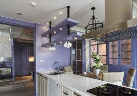 混搭紫色厨房设计