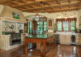 美式木质厨房设计欣赏