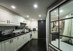 混搭黑白厨房实拍