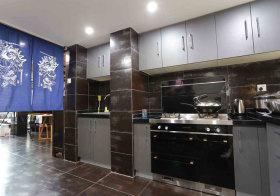 轻工业灰色厨房实拍