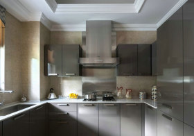 混搭金属厨房橱柜实景