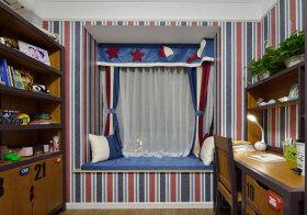 美式条纹飘窗设计