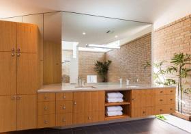 混搭原木浴室柜欣赏