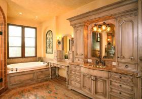 混搭复古浴室柜设计