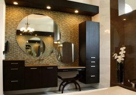 混搭褐色浴室柜美图