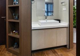现代开放式浴室柜设计