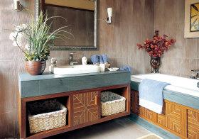 中式森系浴室柜美图欣赏